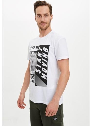 Defacto –Fit Tişört Beyaz